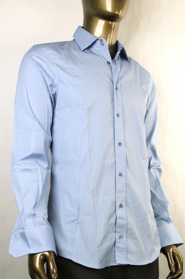 8ebff930ac4 Gucci Blue Fitted Cotton Button-down Dress 39/15.5 269055 4600 Shirt Image  4. 12345