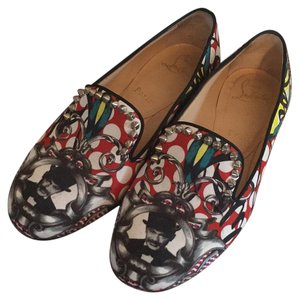 Christian Louboutin Redbottom Studded Slippers Loafer Muticolor Flats