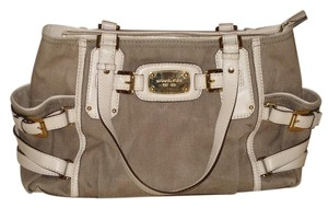 Michael Kors Satchel in Tan White
