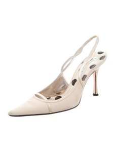 Christian Lacroix Ivory/Champagne Gold Pumps