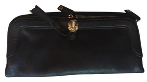 Alexander McQueen Leather Skull Black Clutch
