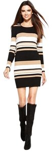 INC International Concepts short dress Black And Beige Cream on Tradesy