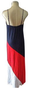 white navy red Maxi Dress by Tommy Hilfiger