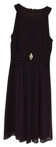 Jessica Howard Rhinestone Pin Pleats Ruche Lined Dress
