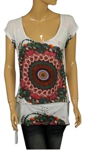 Desigual T Shirt White Multi