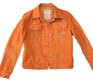 Helmut Lang orange Womens Jean Jacket