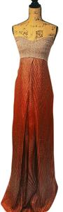 Burnt orange, gold, cream Maxi Dress by Diane von Furstenberg