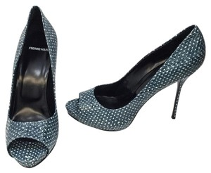 Pierre Hardy Blue/White Pumps