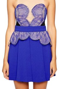 Three Floor Cobalt Lace Dress