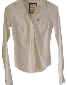 Hollister Button Down Shirt White
