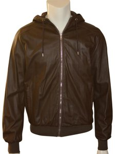 Gucci Mens Leather Brown Leather Jacket