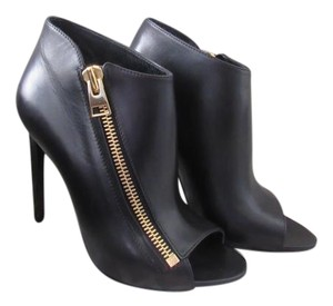 Tom Ford Leather Zipper Bootie Black Boots