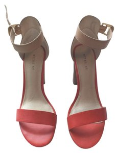 Wythe NY Chunk Heel Coral/Sand Sandals
