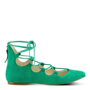 Nine West Suede Stylish Green Flats