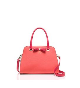 Kate Spade Tote Satchel in Coral Sunset/Crab Red