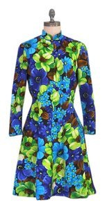 Other Vintage Floral 1960s 60s Hippie Flower Power Dress