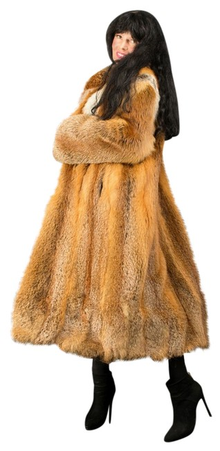 Item - Red Brown Fox Full Length From Whole Skins S-m Classic Style Coat Size 10 (M)