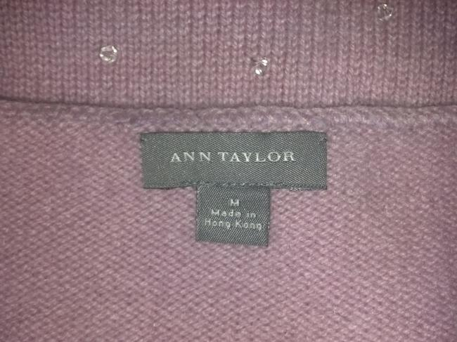 Ann Taylor Cashmere Sparkly Holiday Shell Top Pink