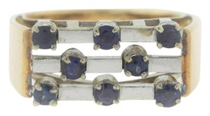 Other Antique 1920s Sapphire 3-Row Bar Set Ring