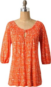 Anthropologie Comfortable Bright Pattern Tunic