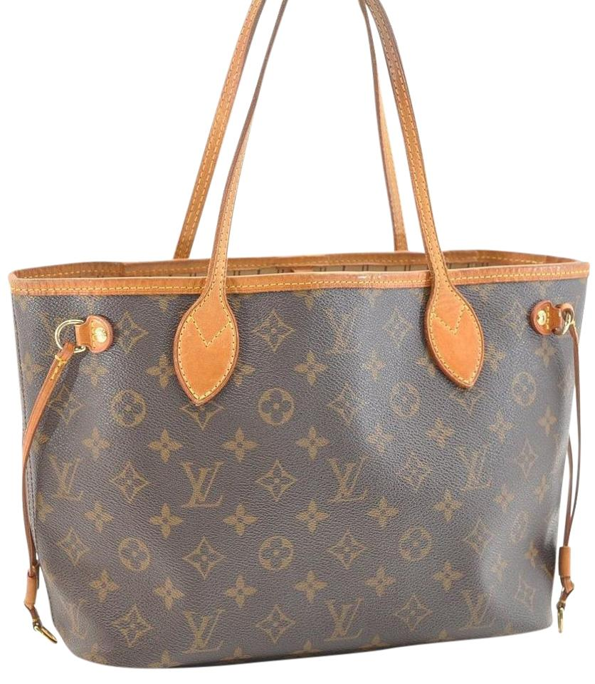 61b12cccb208 Louis Vuitton Neverfull Monogram Pm Tote M40155 Lv Shoulder Bag ...