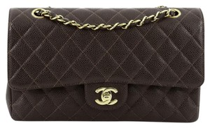 Chanel Leather Brown Clutch