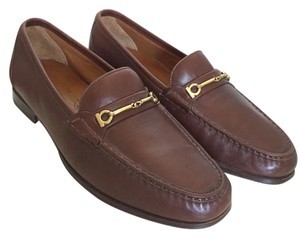 Salvatore Ferragamo Vintage Leather Brown Flats