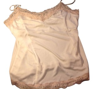 The Limited Cami Top Antique White with beige lace.