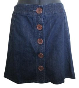 Boden Denim Navy A-line Casual Skirt Blue
