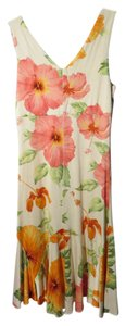 Tommy Bahama short dress Multi-color Silk Summer Hibiscus Print on Tradesy