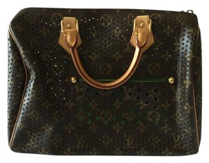 Louis Vuitton Limited Edition Leather Tote in Monogram/Green