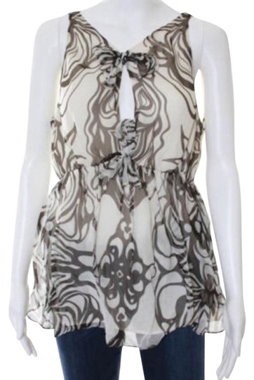 4d16b067 80%OFF Milly of New York Silk Top Brown And Cream - 63% Off Retail ...