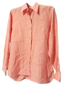 Thomas Pink Thomas Linen London Size 10 Top Pink