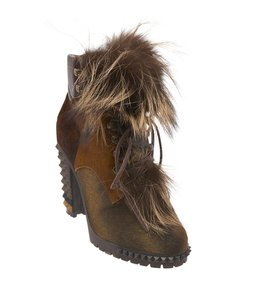 Fendi Joan Pony Hair Fur Brown Boots
