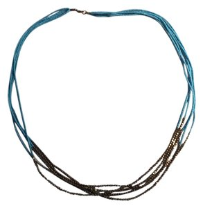 Designers Originals Genuine Turquoise & antiqued gold multi-strand necklace