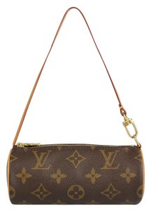 Louis Vuitton Gold Hardware Canvas Wristlet in Monogram