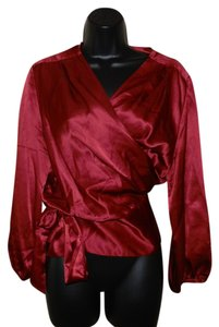 Talbots Lightweight Wrap Silk Dryclean Only Top Copper