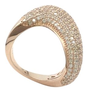ROSE GOLD PLATED .925 STERLING SILVER CUBIC ZIRCONIA COCKTAIL RING