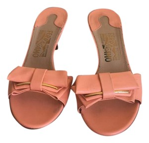 Salvatore Ferragamo peach Sandals