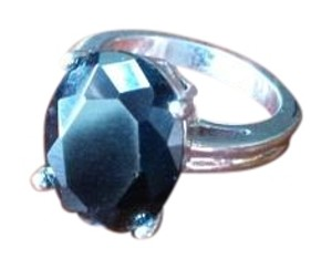 Lia Sophia Lia Sophia Black Oval Ring