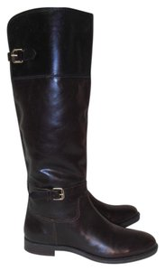 Enzo Angiolini Designer Leather brown w/ black Boots