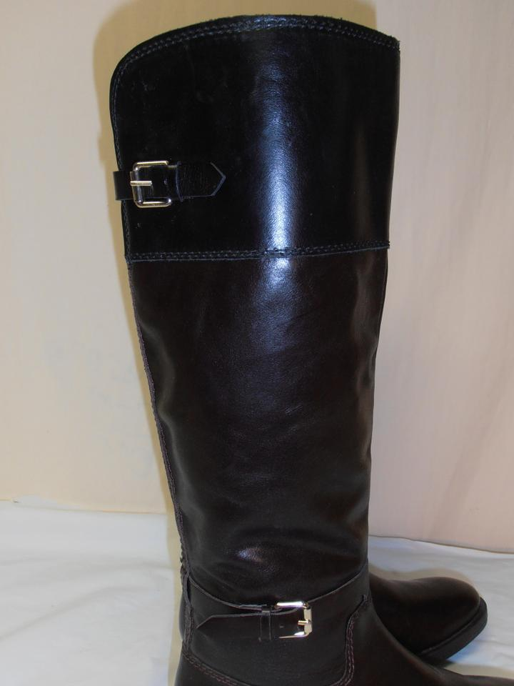 467c4c113f0 Enzo Angiolini Brown W/ Black Knee High Equestrian Style Riding Brown/Bk  Boots/Booties Size US 8.5 Regular (M, B)