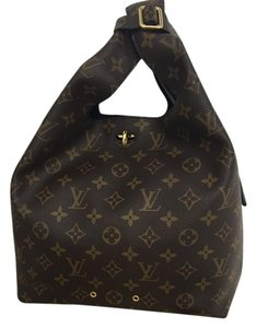 Louis Vuitton M43098 Hobo Pm Monogram Satchel in Brown and Black