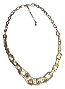 Designers Originals Brushed aluminum matte gold chainlink necklace