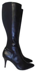 Calvin Klein Designer Knee High Pointy Toe black Boots