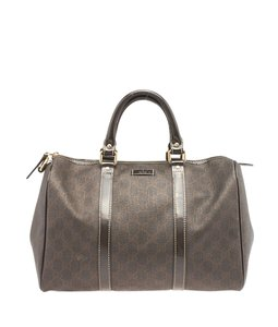 Gucci Boston Gg Supreme Satchel in Brown