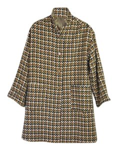 Vintage Wool Tweed Plaid Coat