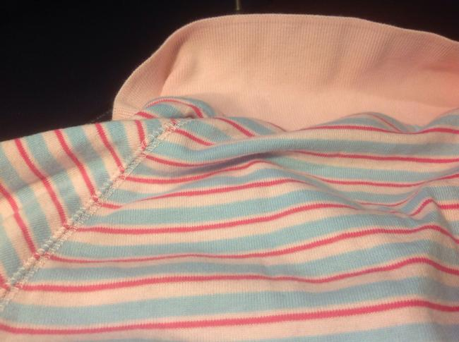 Express Polo Lue Brand New Tags Top Pink with light blue and dark pink stripes
