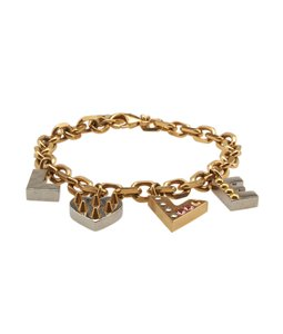 Louis Vuitton Louis Vuitton Gold-tone Love Charm Link Bracelet (101284)