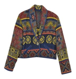 Vintage Blanket Coat Tapestry Jacket
